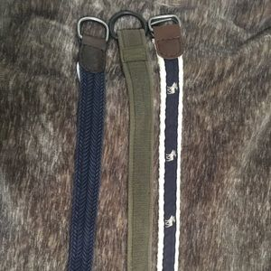 Lot of 3 D-ring belts- A&F - size 34